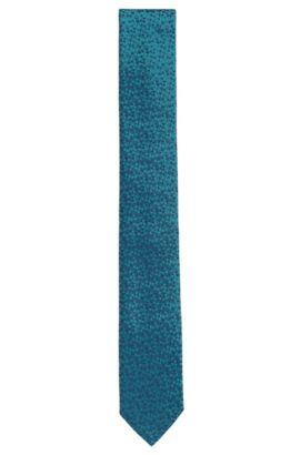 Finely patterned silk tie: 'Tie 6 cm', Green