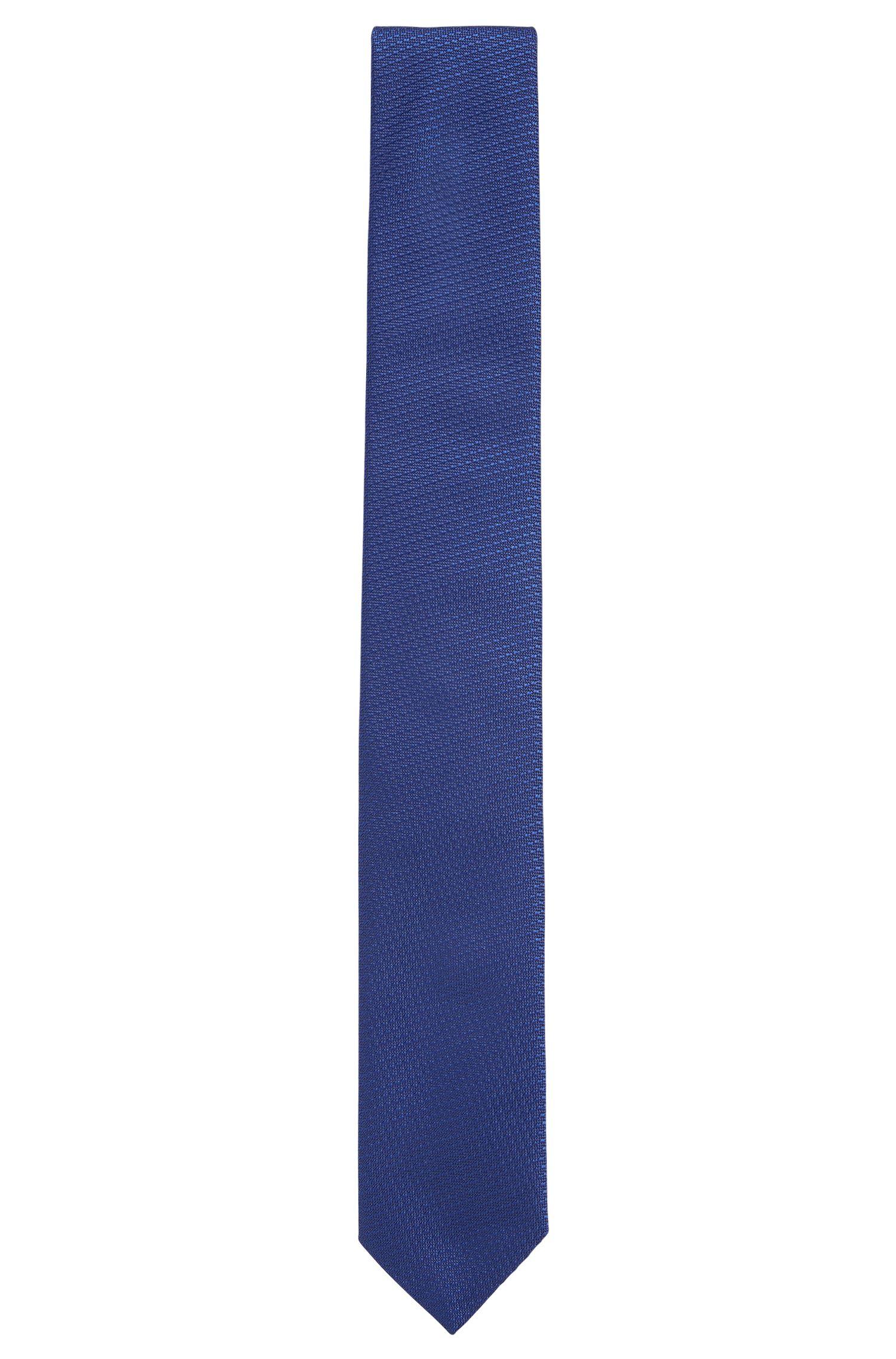 Corbata de seda con preciosa textura tejida: 'Tie 6cm'
