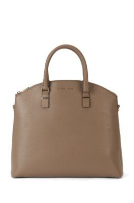 Handtasche aus Leder mit abnehmbarem Schulterriemen: 'Luxury S. B.', Khaki