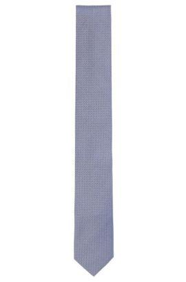 Krawatte aus strukturierter Seide: 'Tie cm 6', Blau