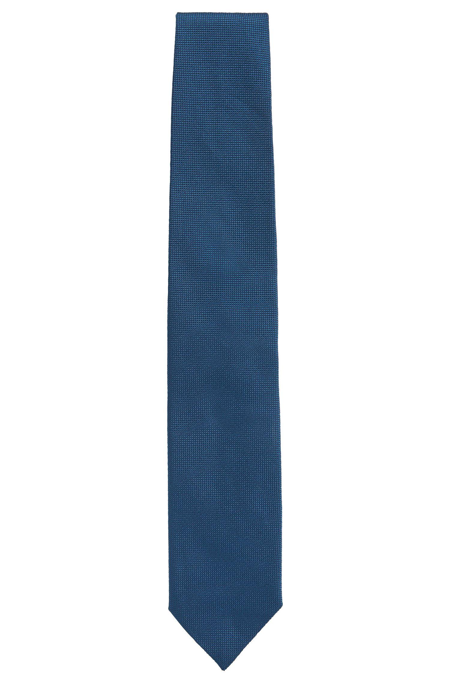 Cravate en jacquard de soie texturé