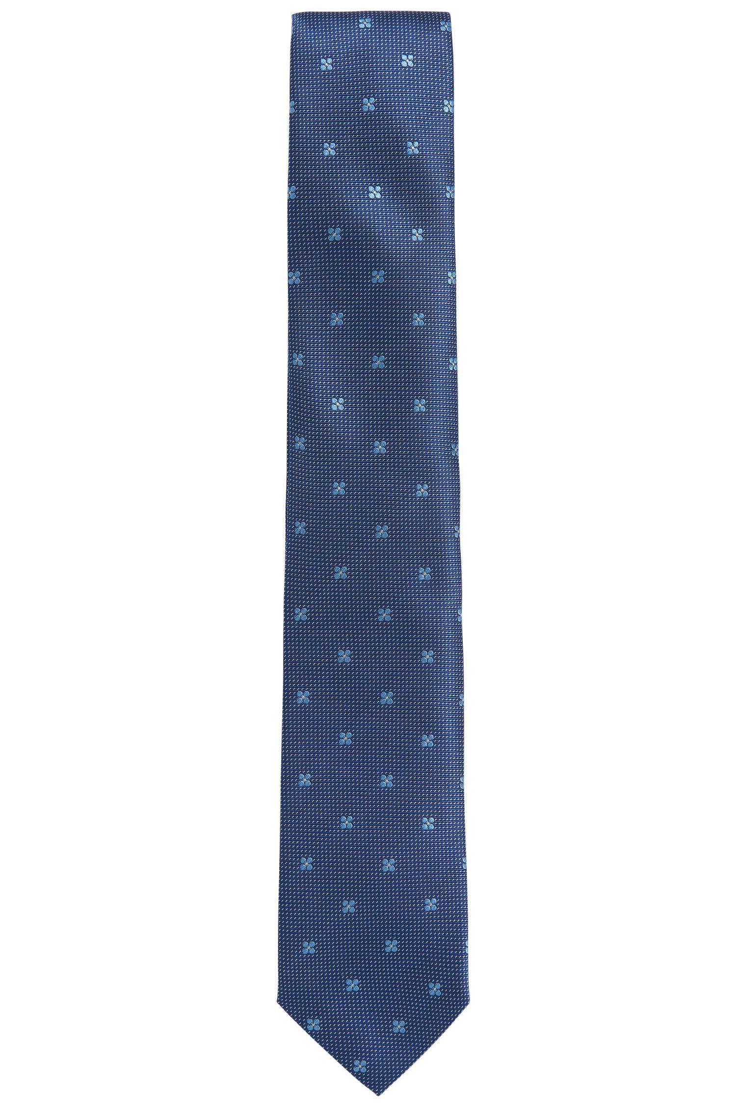 Cravatta in seta finemente ricamata: 'Tie 7cm'