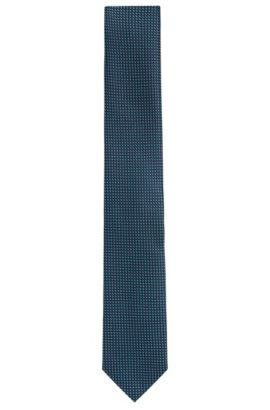 Patterned silk tie: 'Tie 7 cm', Dark Blue
