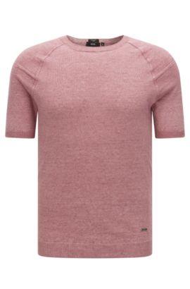 Regular-Fit Kurzarm-Pullover aus Leinen: 'Olvin', Pink