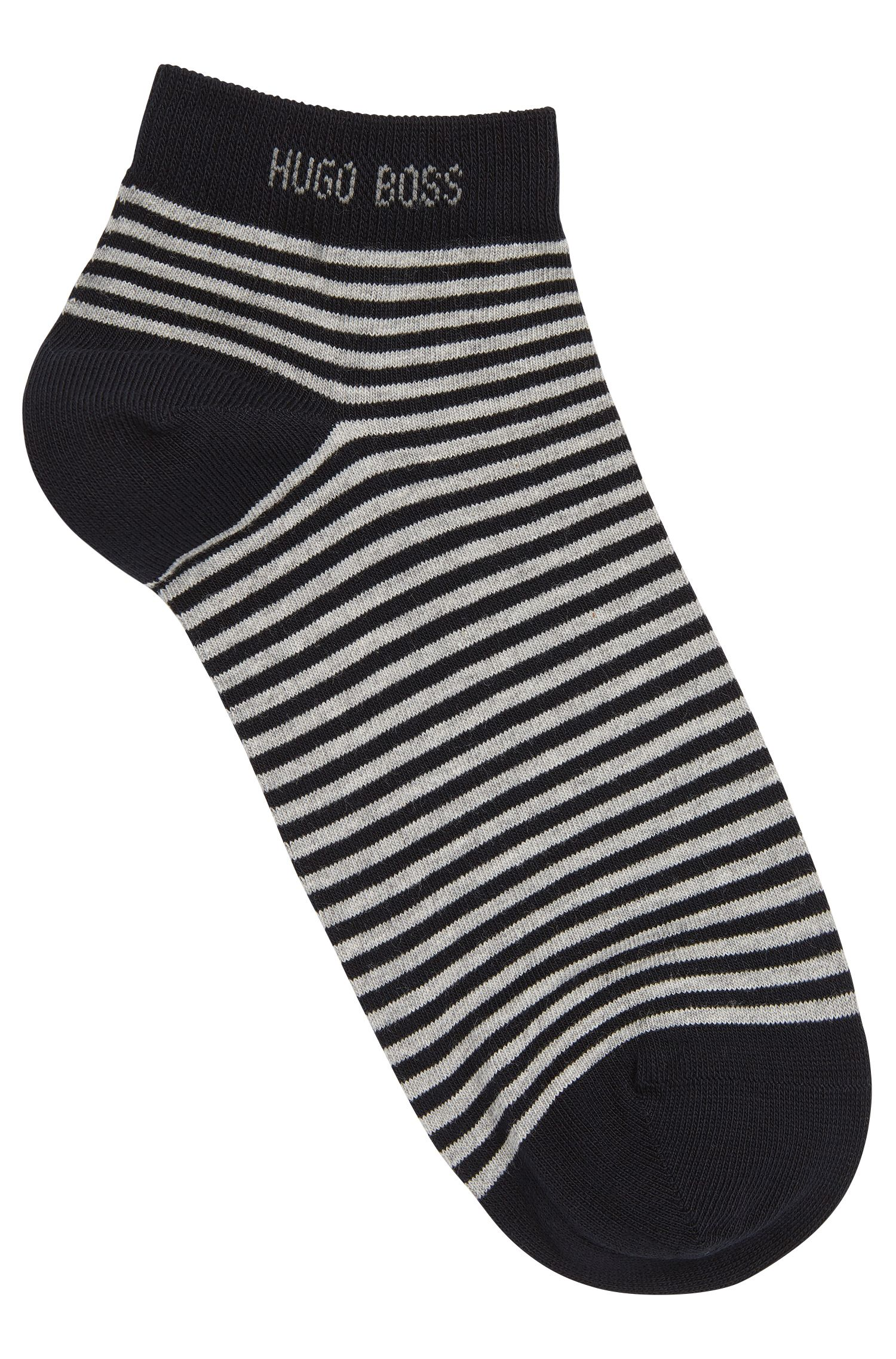 Gestreifte Sneaker-Socken aus elastischer Baumwolle: 'Marc'