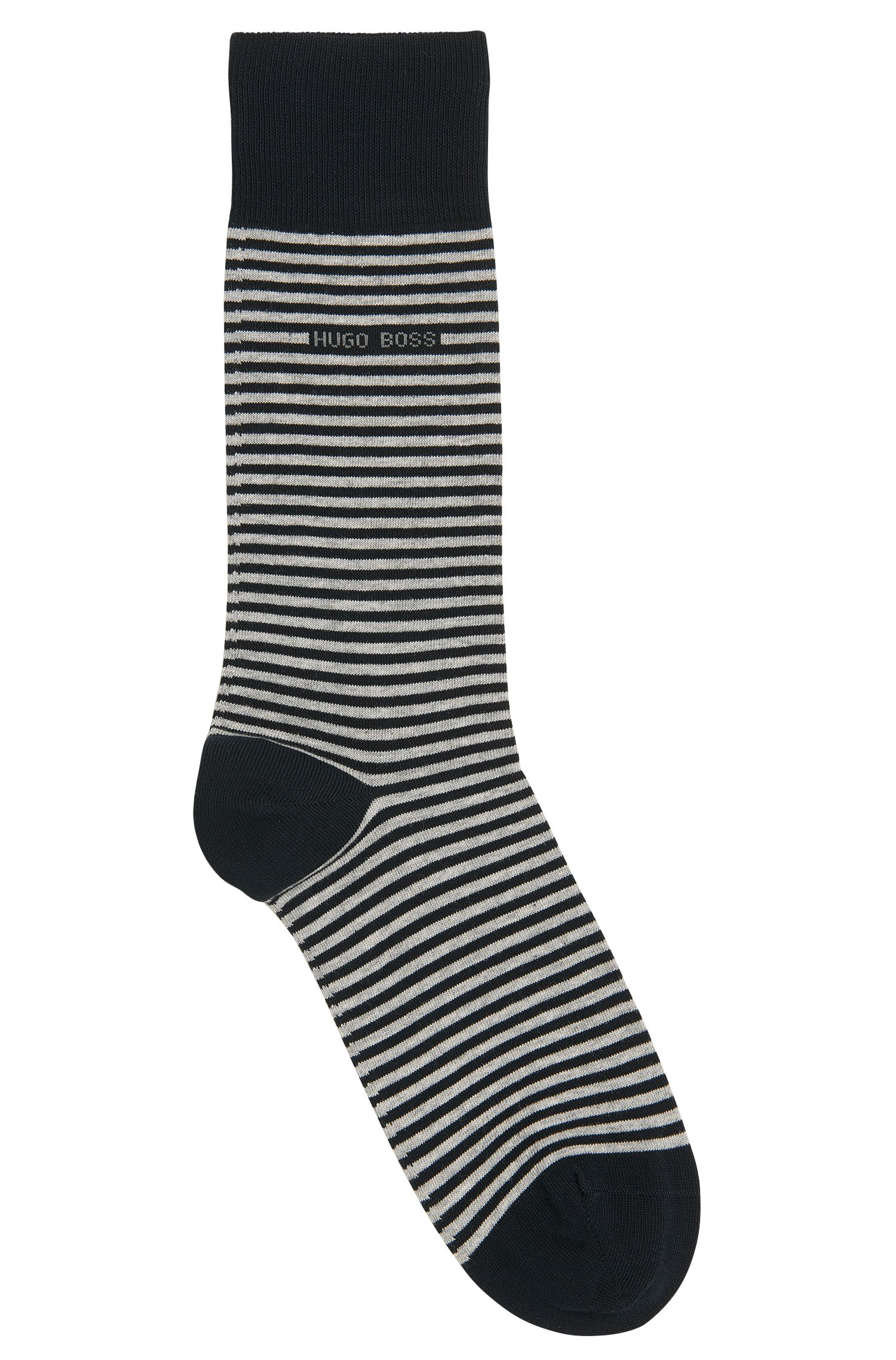 Striped socks in stretch cotton: 'Marc Design'