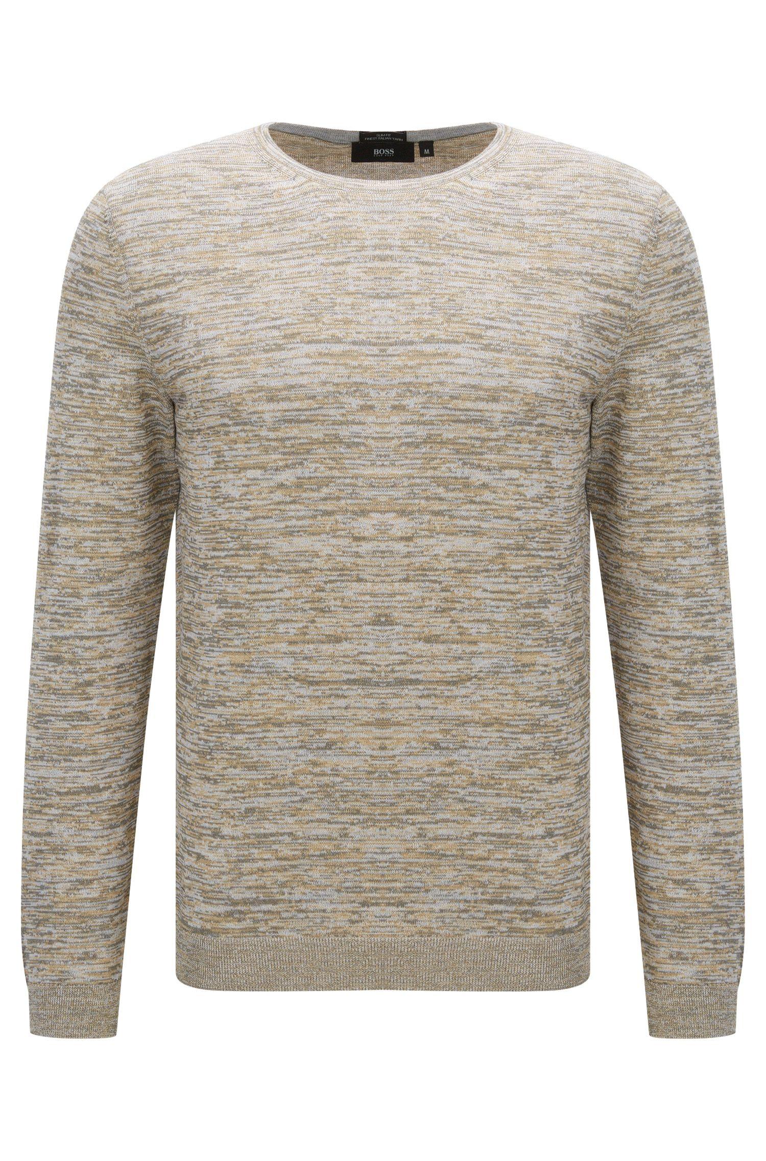 Unifarbener Slim-Fit Pullover aus Baumwolle: 'Fines-O'