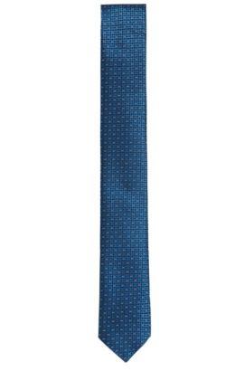 Krawatte aus fein strukturierter Seide: 'Tie cm 6', Blau