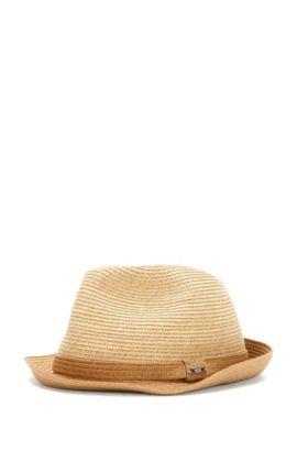 Trilby-Hut im zweifarbigen Dessin: 'Fellio', Hellbeige