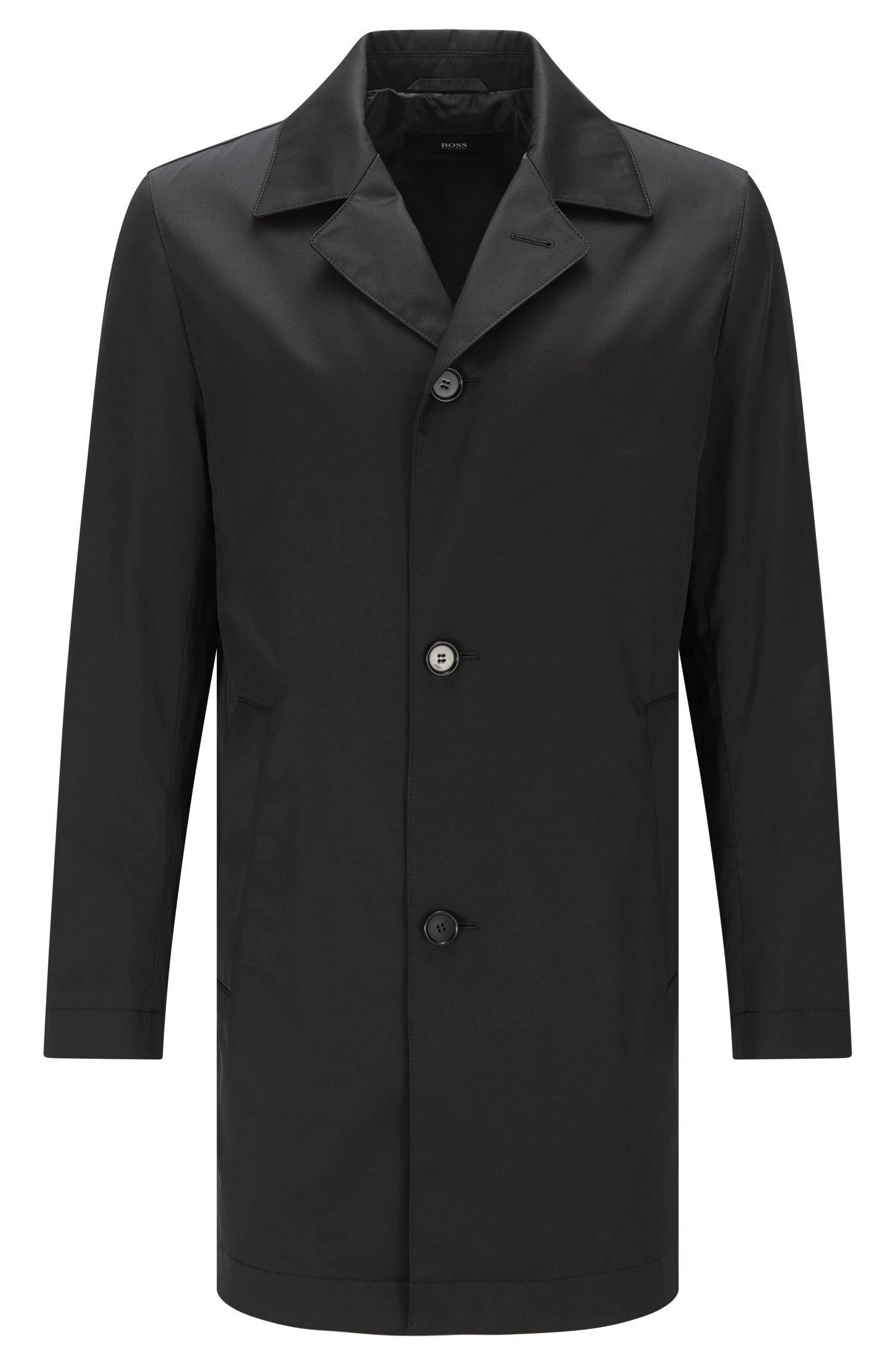 Waterafstotende slim-fit mantel van een materiaalmix met katoen: 'Dais12'