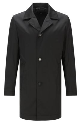 Cappotto slim fit impermeabile in materiali misti con cotone: 'Dais12', Nero
