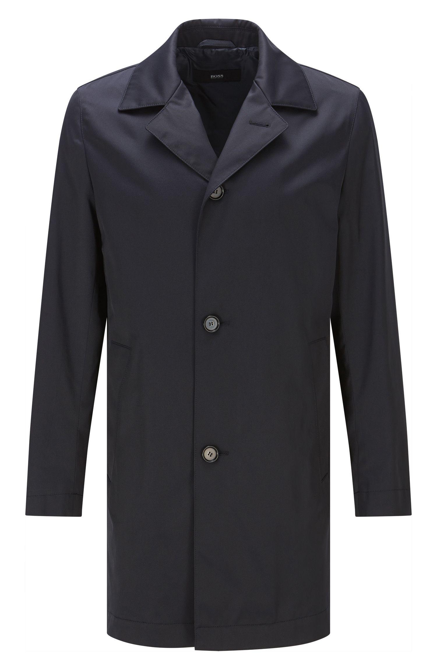 Abrigo impermeable slim fit en mezcla de materiales con algodón: 'Dais12'