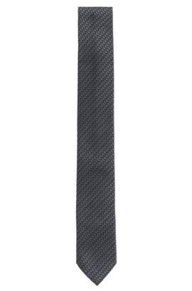 Corbata con fino estampado en seda: 'Tie 6cm', Negro