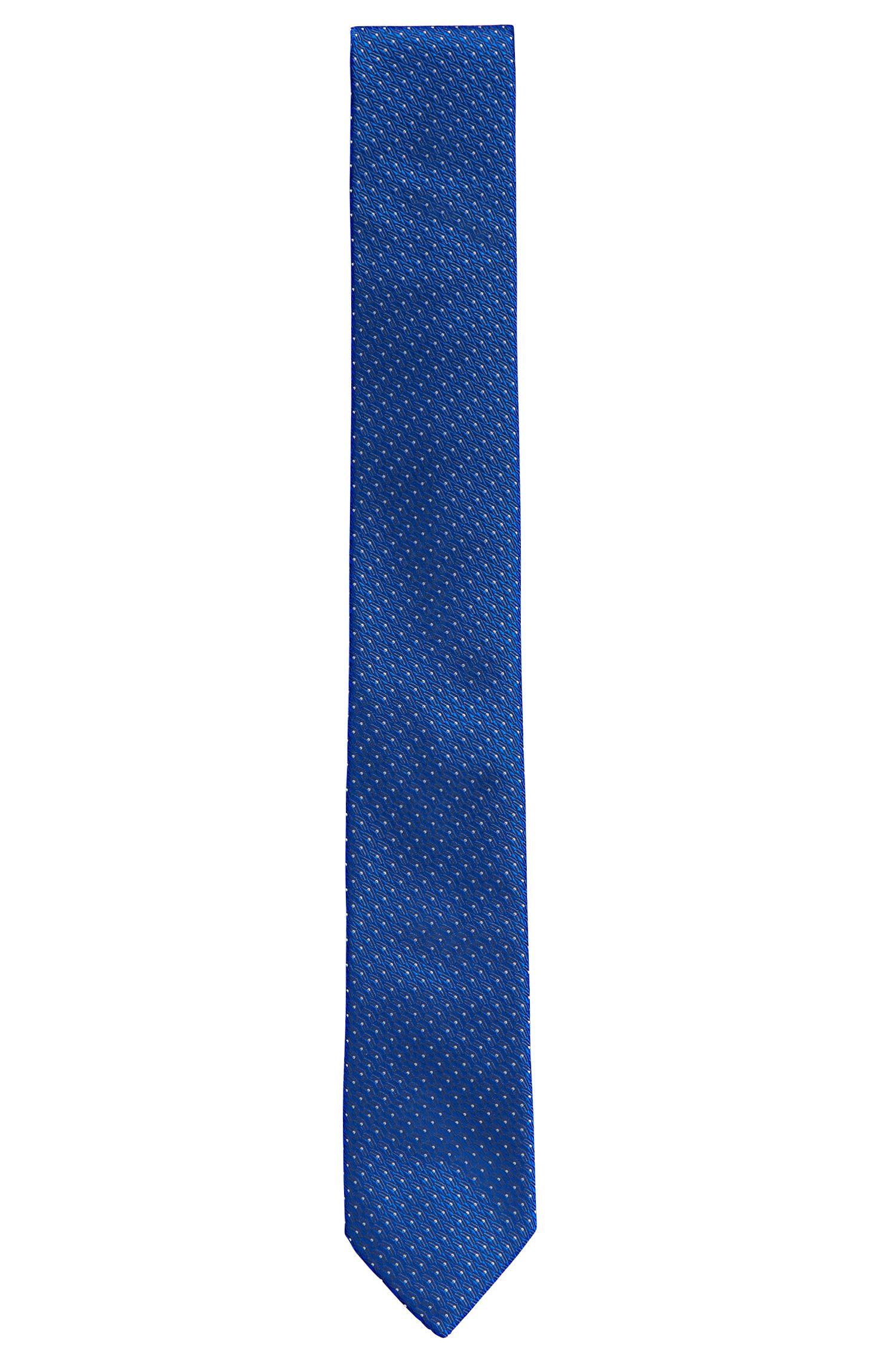 Fein gemusterte Krawatte aus Seide: 'Tie cm 6'