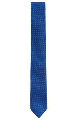 Finely patterned silk tie: 'Tie 6 cm', Blue