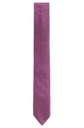 Cravate en soie à motif fin: «Tie 6cm», Lilas