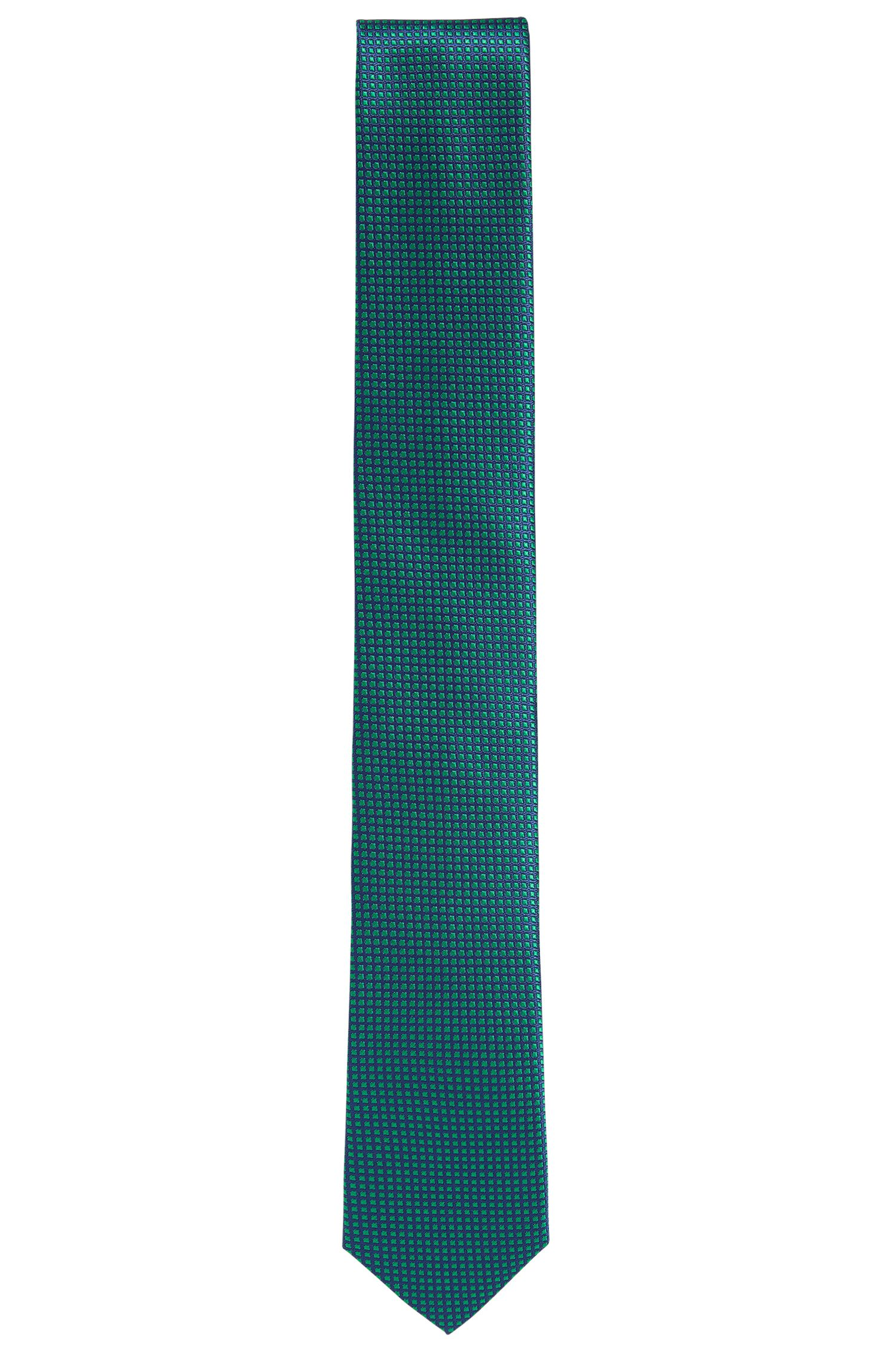 Finely checked silk tie: 'Tie 6 cm'