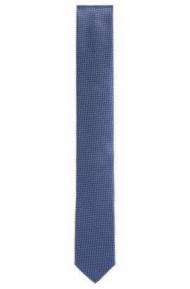 Cravate en soie à carreaux fins: «Tie 6cm», Bleu vif