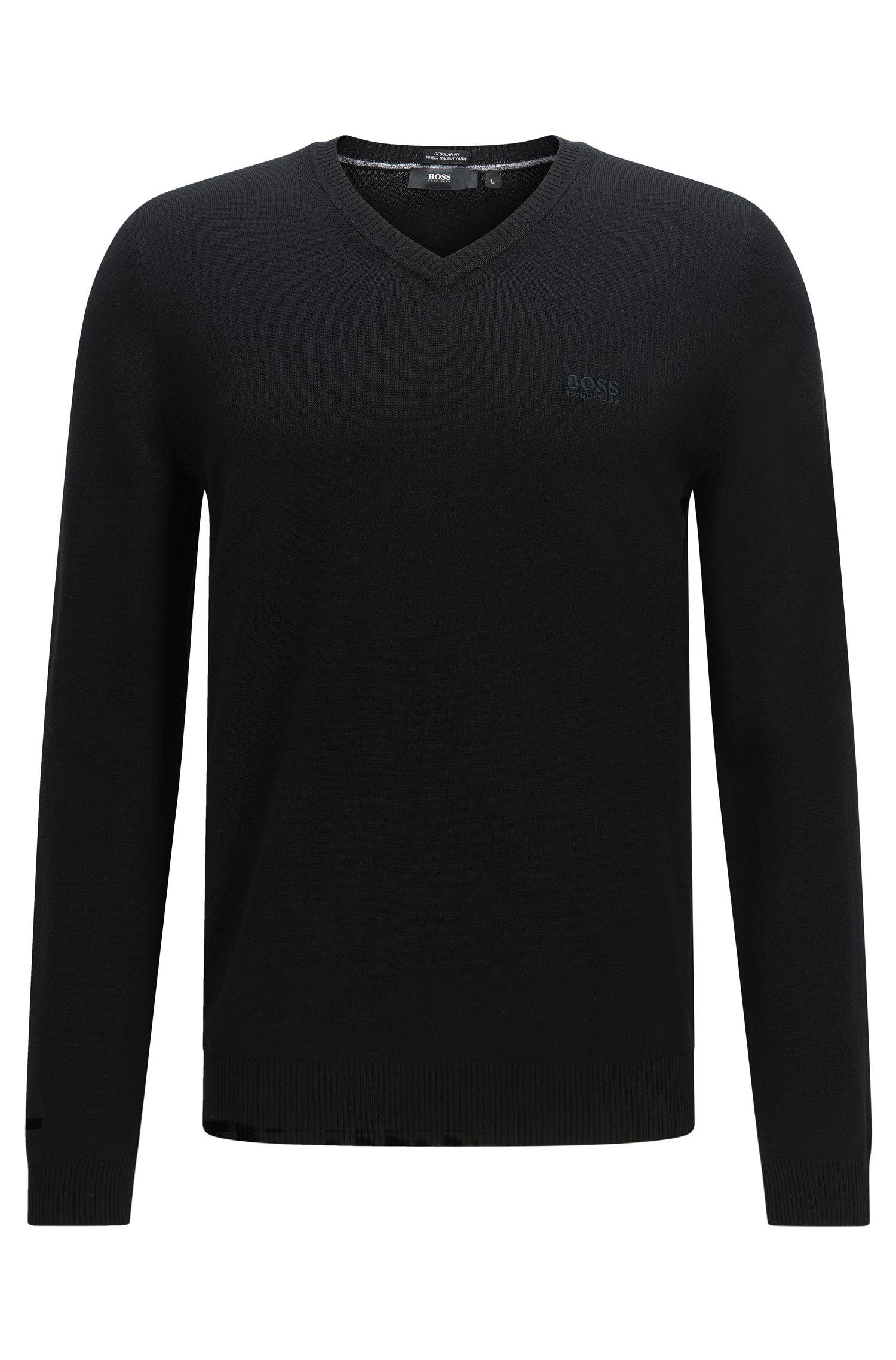 Regular-Fit Pullover aus Baumwolle: 'Fillipp-O'