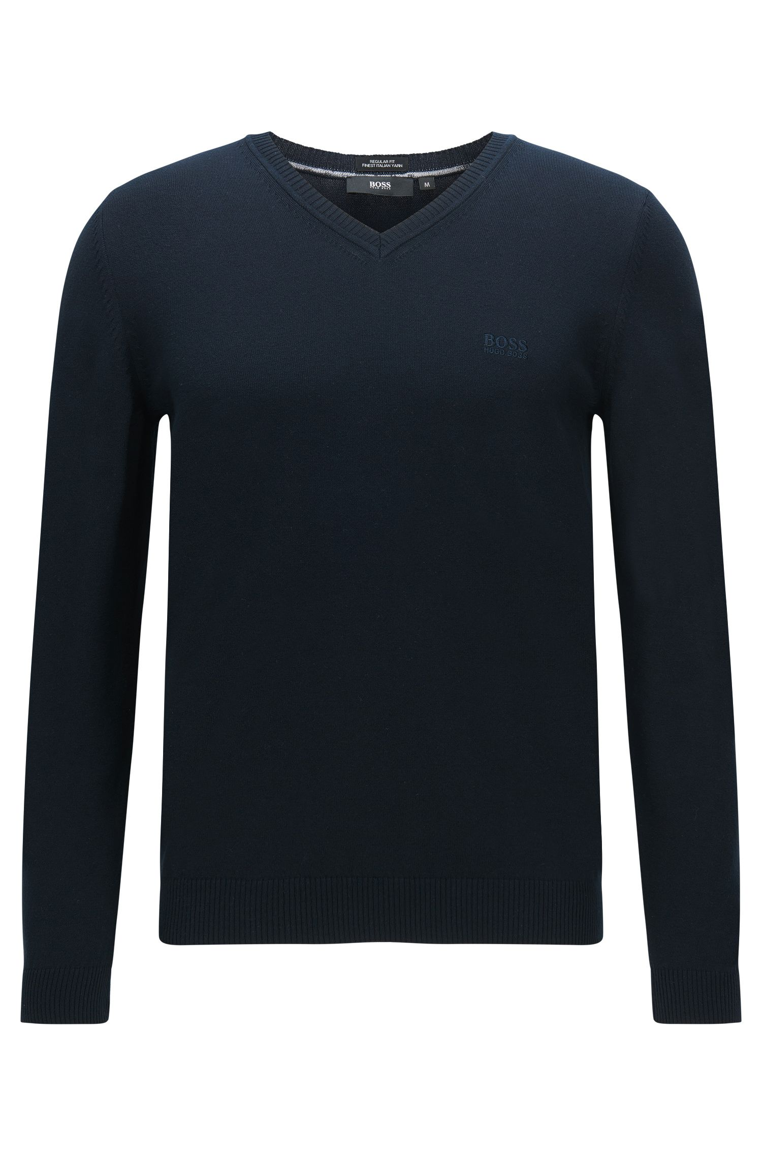 Regular-fit sweater in cotton: 'Fillipp-O'