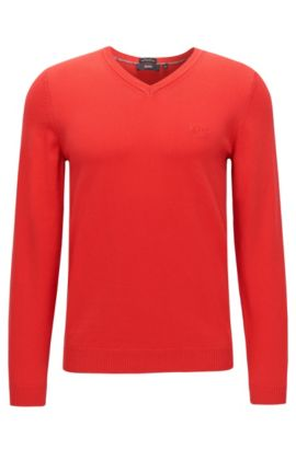 Pull Regular Fit en coton : « Fillipp-O », Rouge