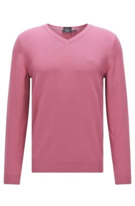 Regular-Fit Pullover aus Baumwolle: 'Fillipp-O', Pink
