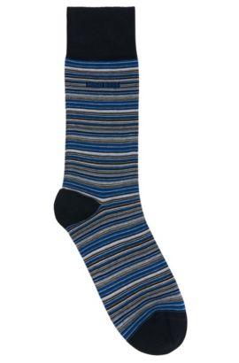 Gestreifte Socken aus merzerisiertem Baumwoll-Mix: 'RS Design', Dunkelblau