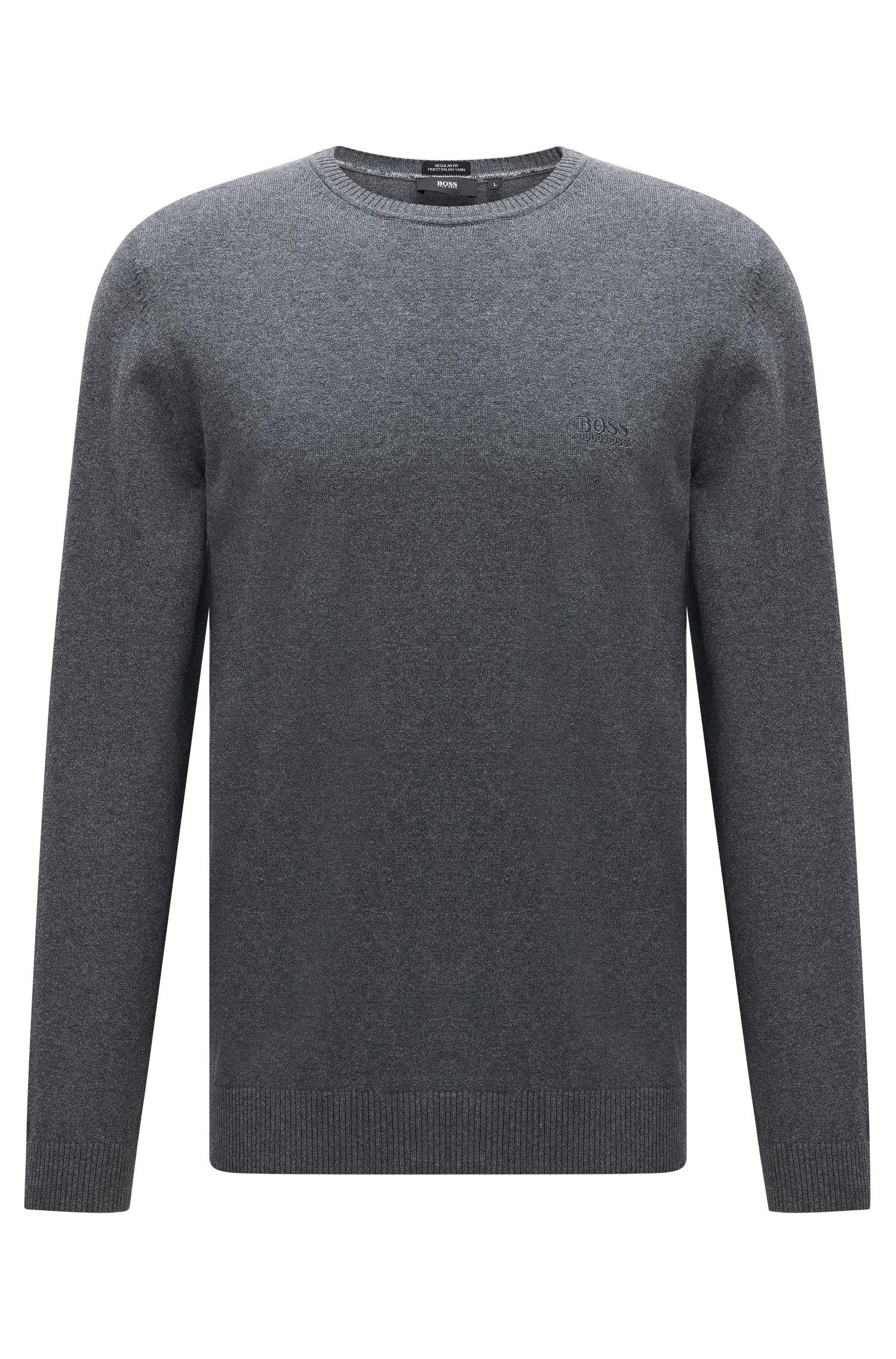 Regular-fit trui van katoen met ronde hals: 'Finello-O'