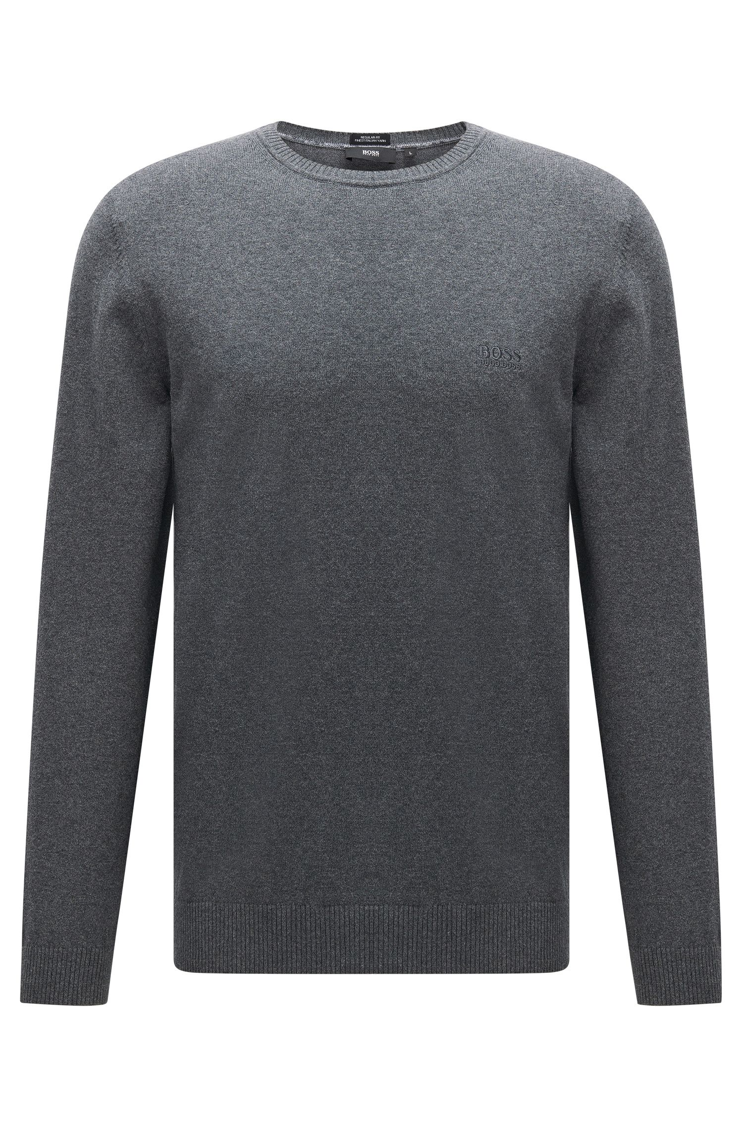 Pull en coton Regular Fit à col rond : « Finello-O »