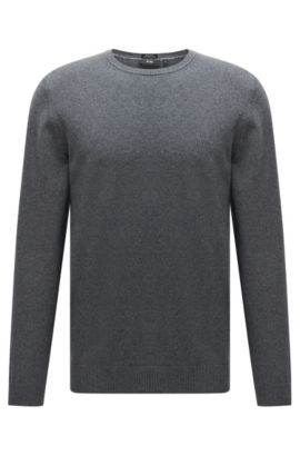 Pull en coton Regular Fit à col rond : « Finello-O », Gris