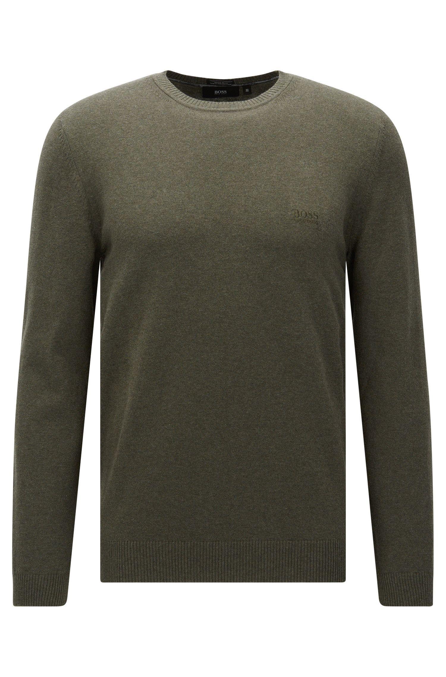 Jersey regular fit algodón con cuello redondo: 'Finello-O'