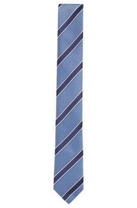 Cravatta in seta a righe: 'Tie 6cm', Blu