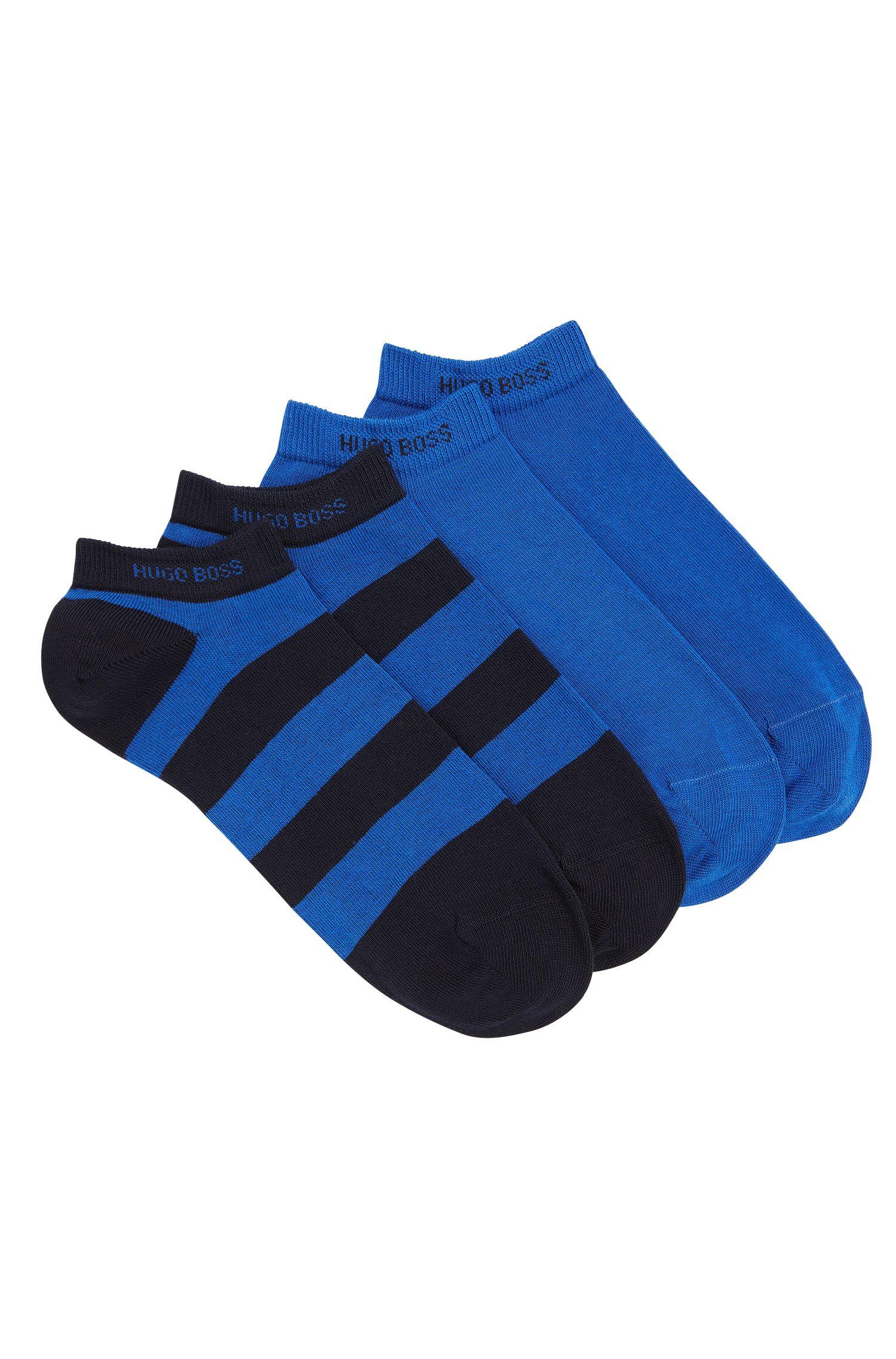 Sneaker-Socken aus elastischem Baumwoll-Mix im Zweier-Pack: 'Twopack AS Design'
