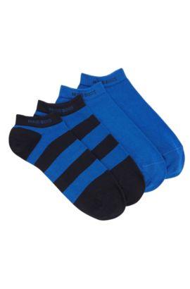 Sneaker-Socken aus elastischem Baumwoll-Mix im Zweier-Pack: 'Twopack AS Design', Dunkelblau