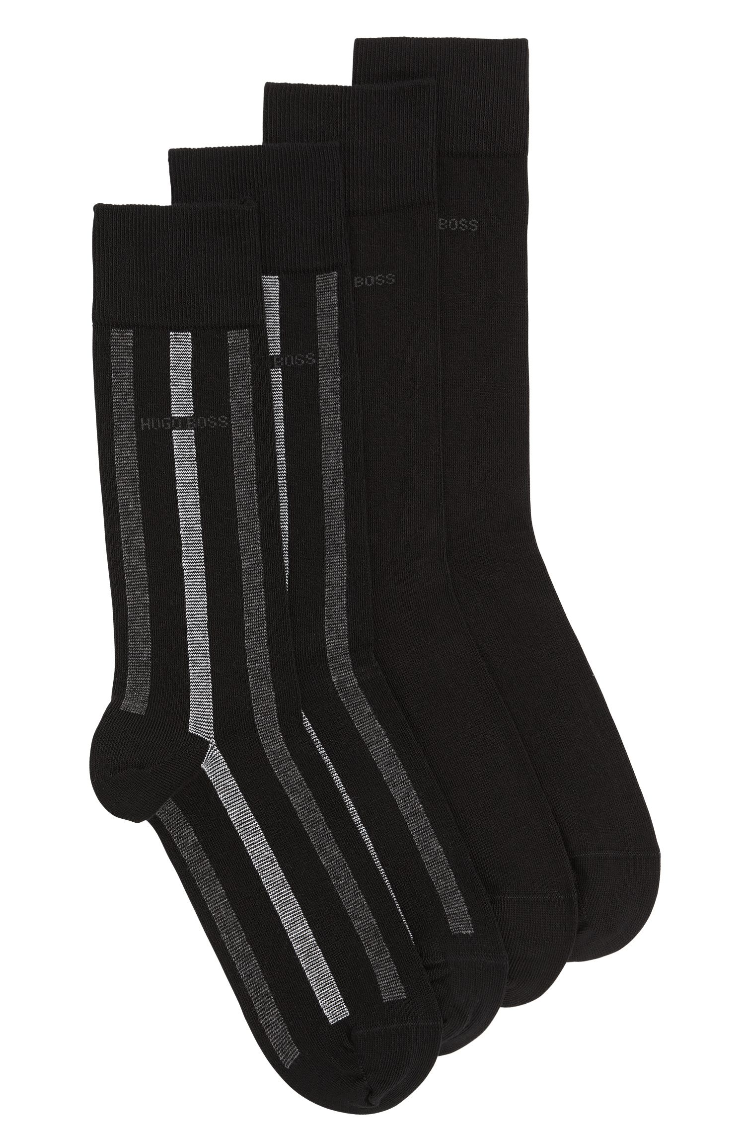 Socks in stretch cotton blend in a double pack: 'Twopack RS Design'