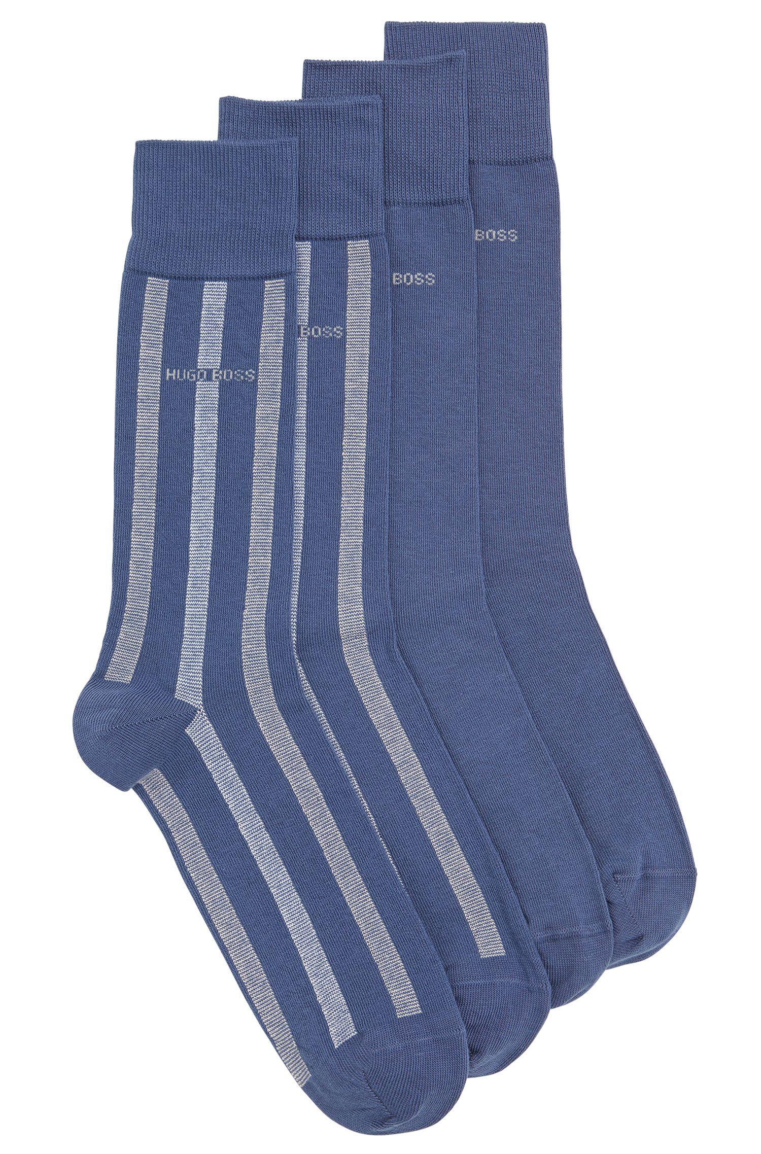 Socken aus elastischem Baumwoll-Mix im Zweier-Pack: 'Twopack RS Design'