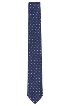Gemusterte Krawatte aus Seide: 'Tie 6 cm', Hellrosa