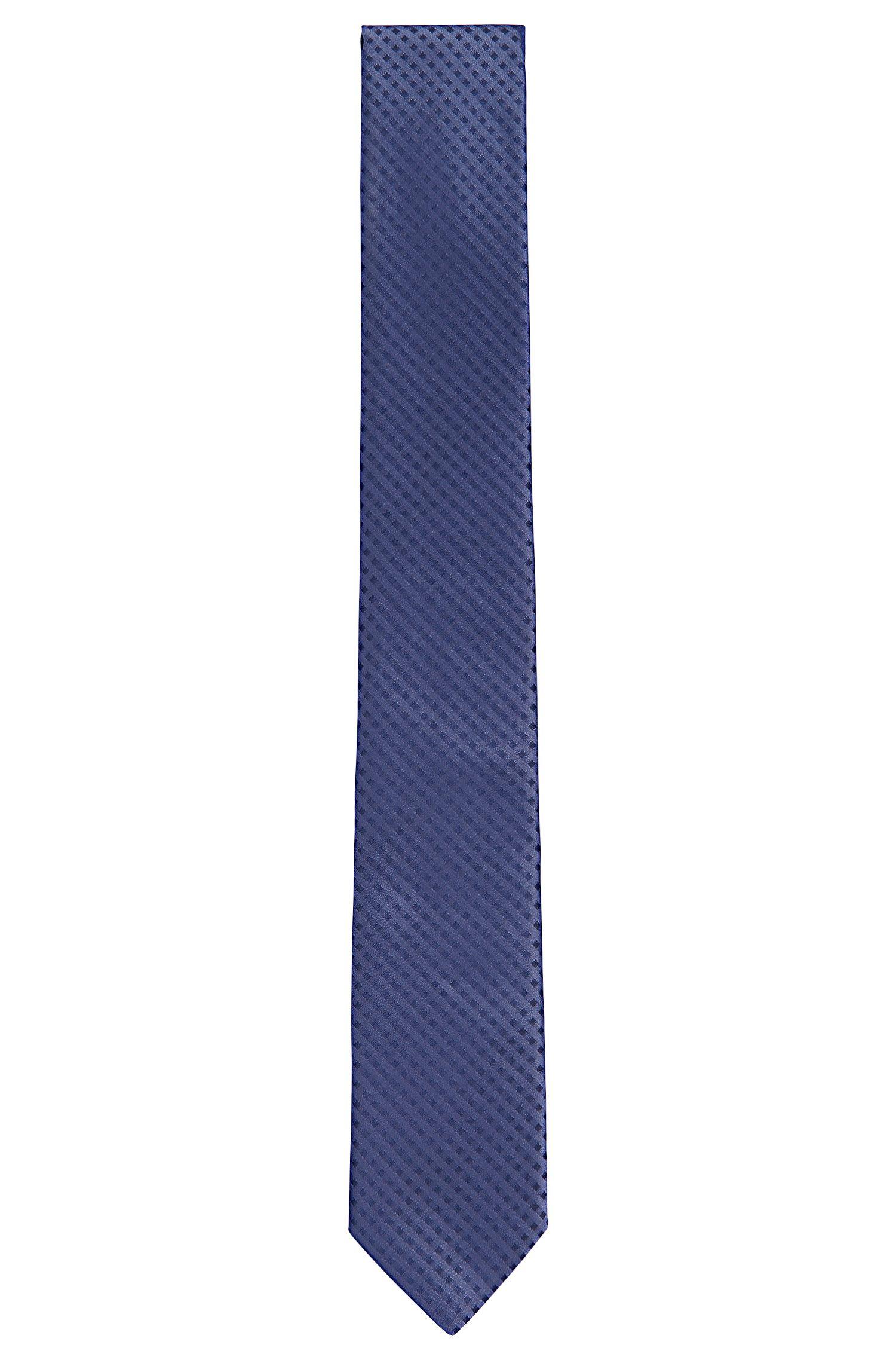 Cravate à fins carreaux, en soie: «Tie6cm»