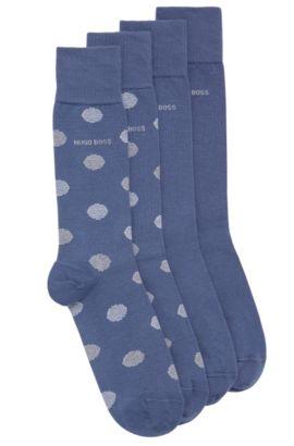 Paquete doble de calcetines en mezcla de algodón elástico: 'Twopack RS Design', Azul oscuro