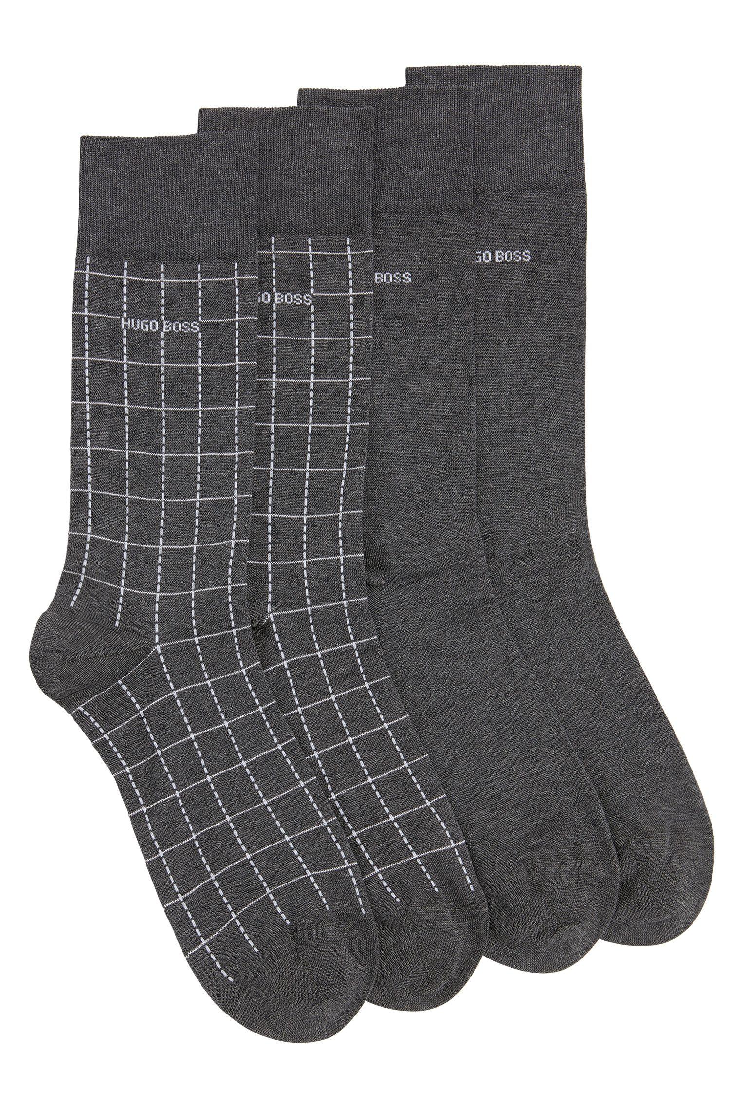 Calze in misto cotone elasticizzato in confezione da due: 'Twopack RS Design'