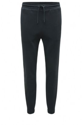 Tracksuit bottoms in cotton with a comfortable waistband: 'Havoo', Dark Blue