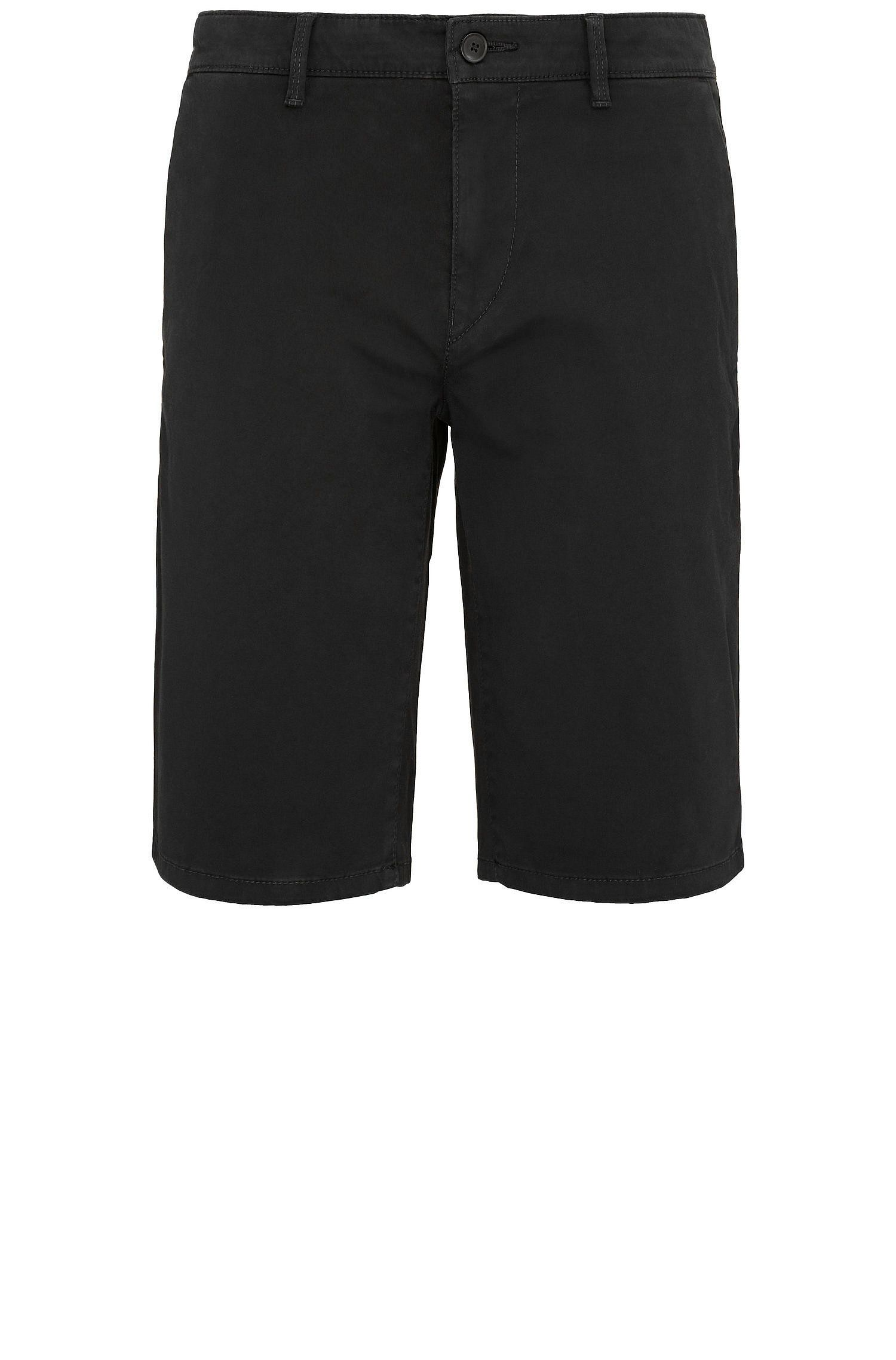Short Slim Fit en coton stretch de style chino: «Schino-Slim-Shorts-D»
