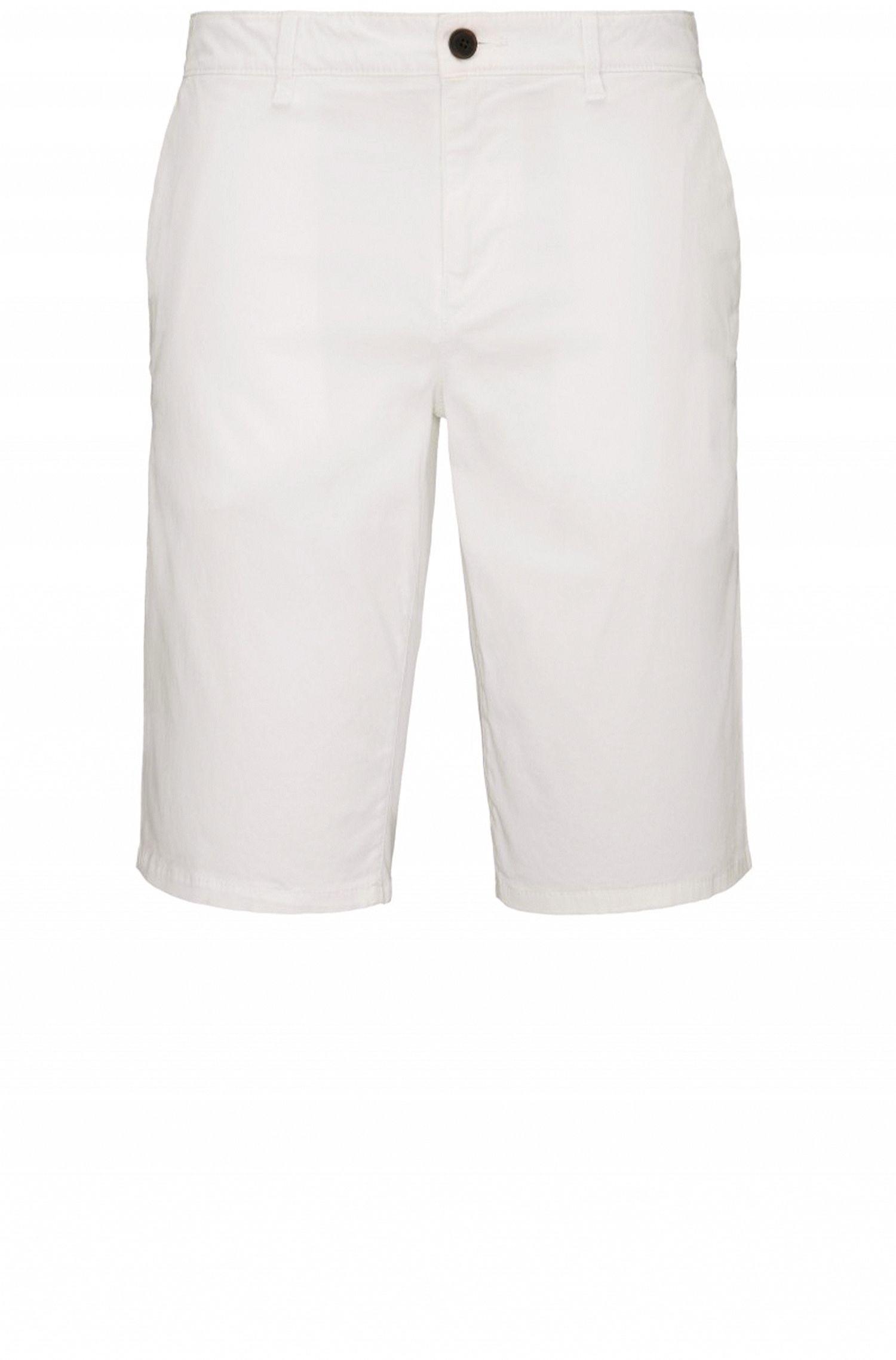 Slim-fit short van stretchkatoen in chinostijl: 'Schino-Slim-Shorts-D'