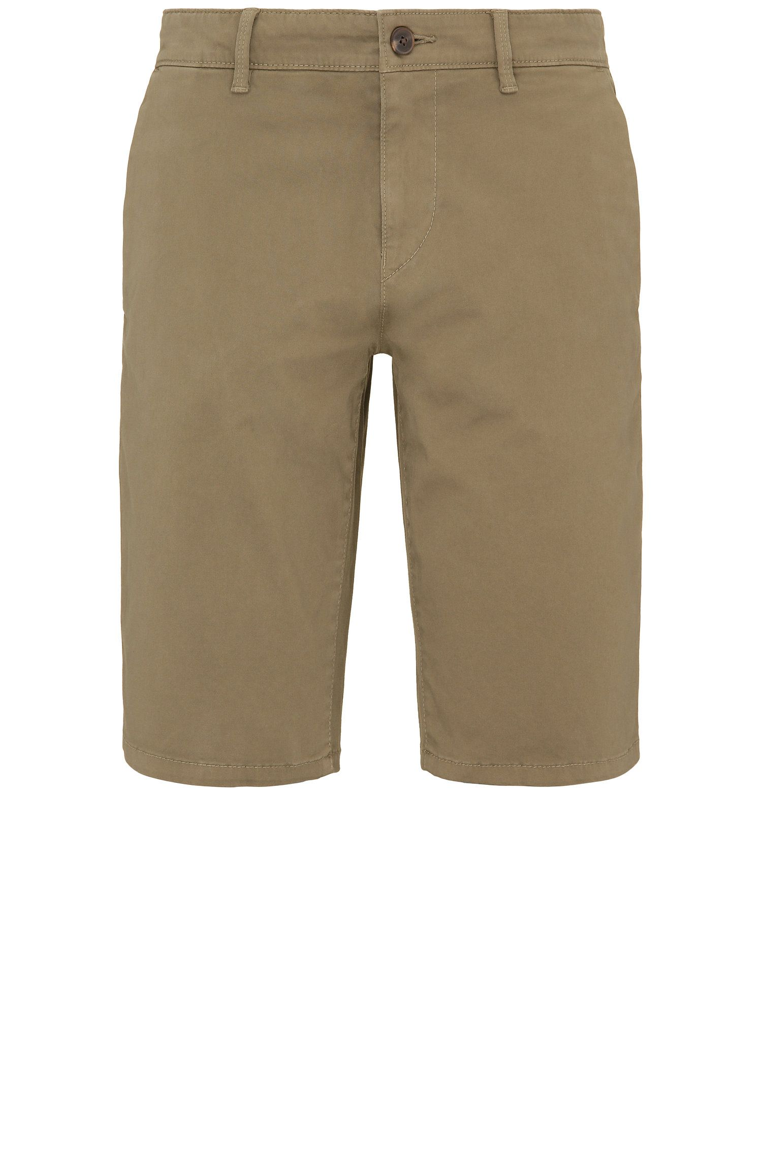 Slim-Fit Shorts aus Stretch-Baumwolle im Chino-Stil: ´Schino-Slim-Shorts-D`