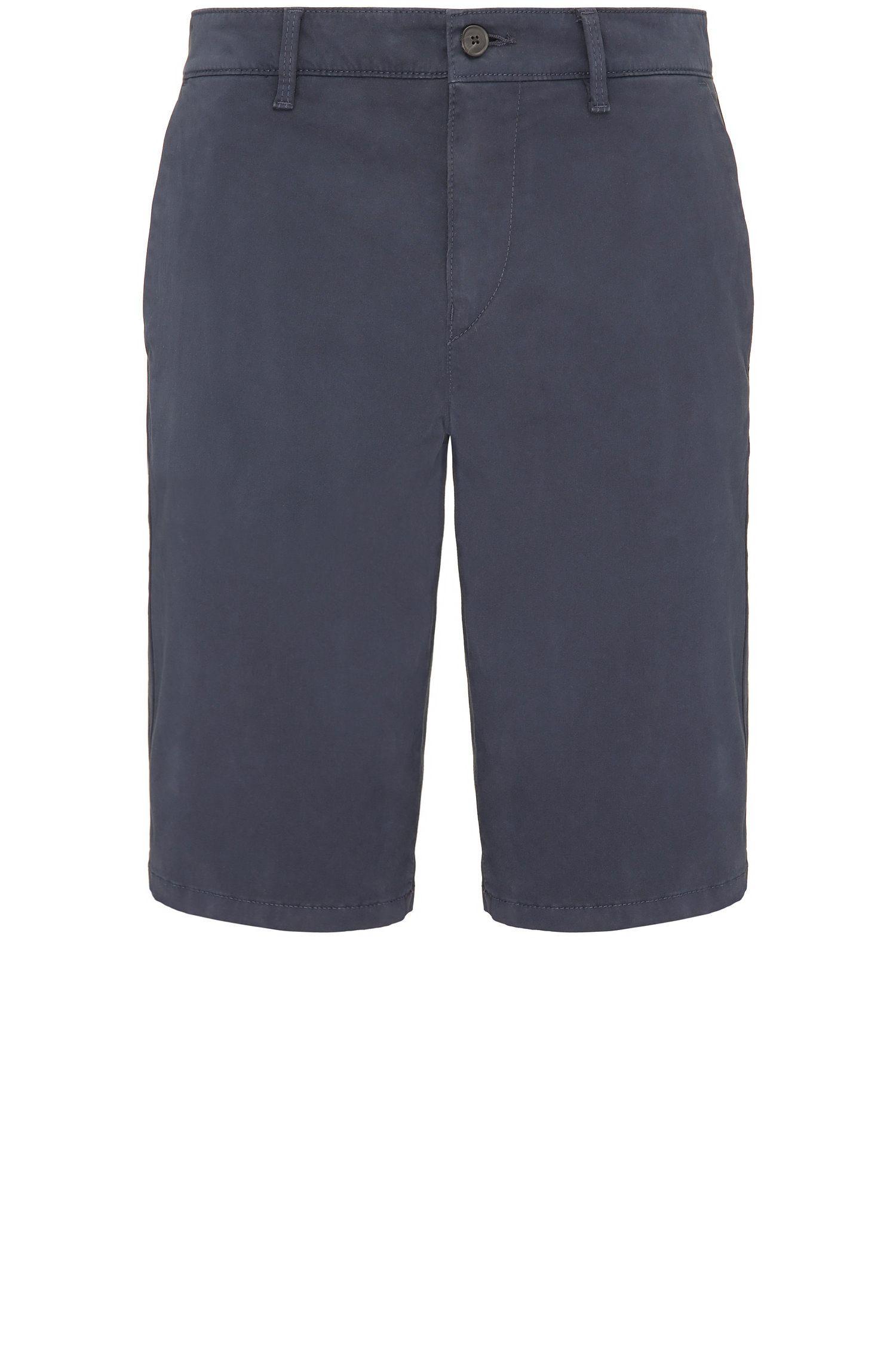 Slim-Fit Shorts aus Stretch-Baumwolle im Chino-Stil: ´Schino-Slim-Shorts-D`