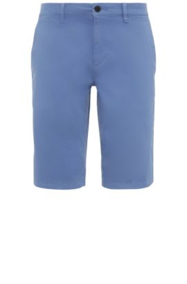 Slim-Fit Shorts aus Stretch-Baumwolle im Chino-Stil: ´Schino-Slim-Shorts-D`, Hellblau