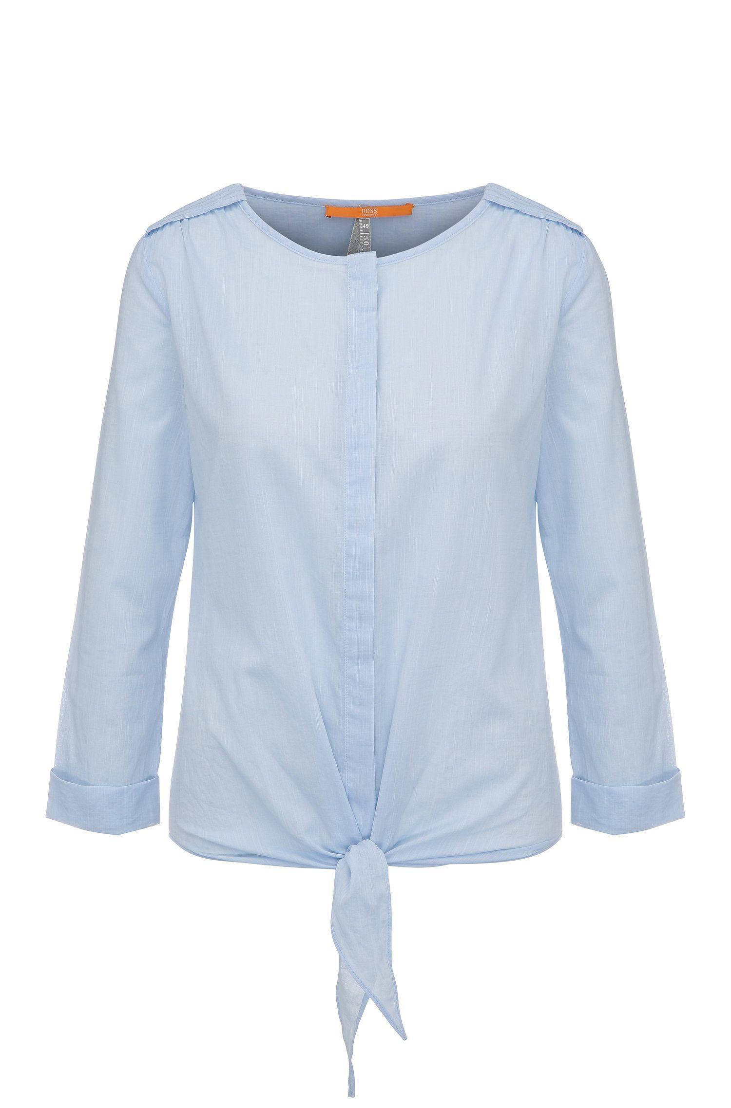 Blusa relaxed fit en algodón con textura: 'Civo'