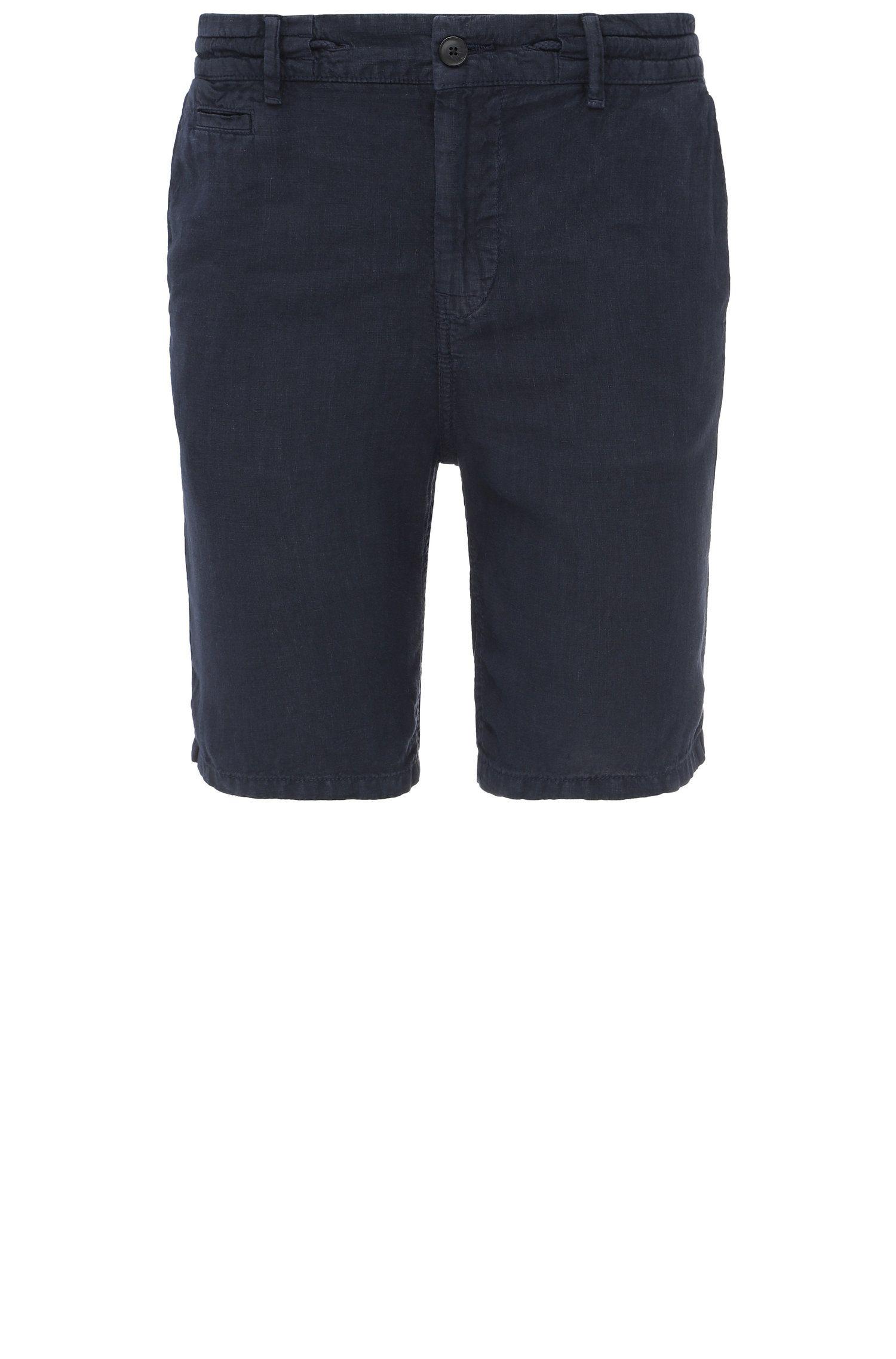 Pantaloncini corti regular fit in lino: 'Siman-Shorts-D'
