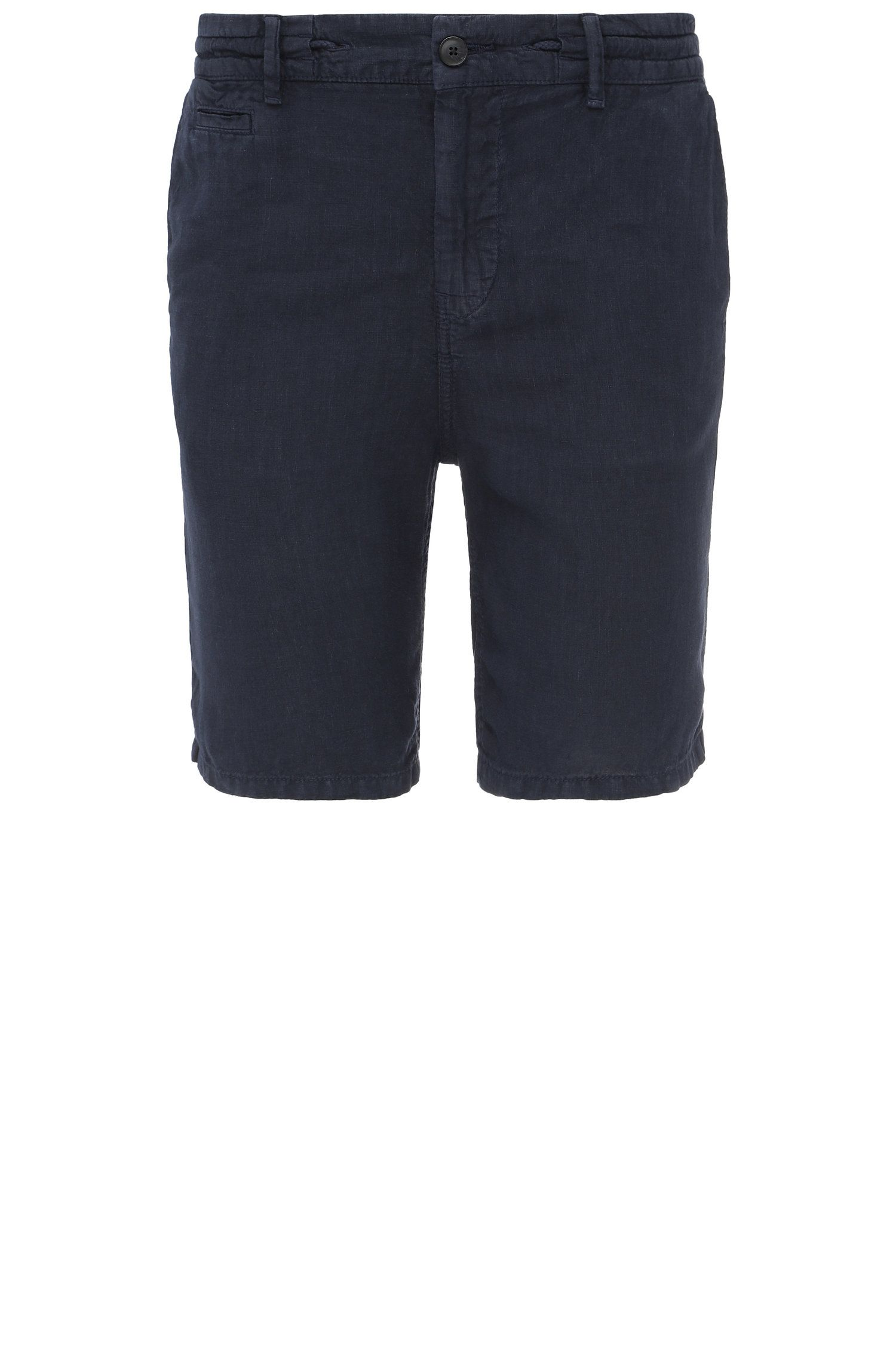 Pantaloncini corti regular fit in lino: 'Siman-Shorts-D'