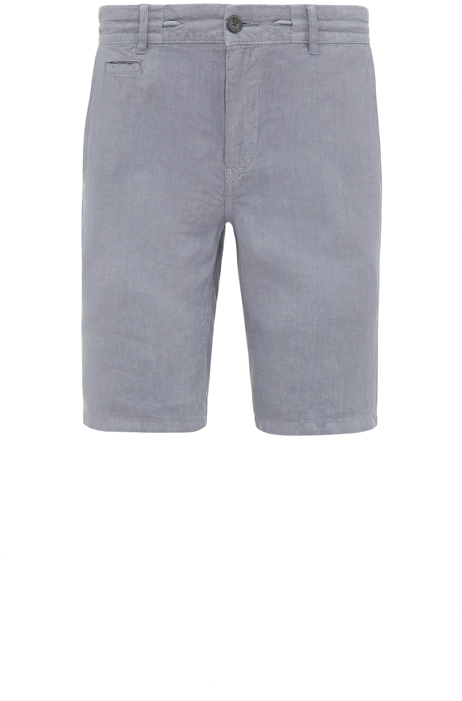 Regular fit shorts in linen: 'Siman-Shorts-D'